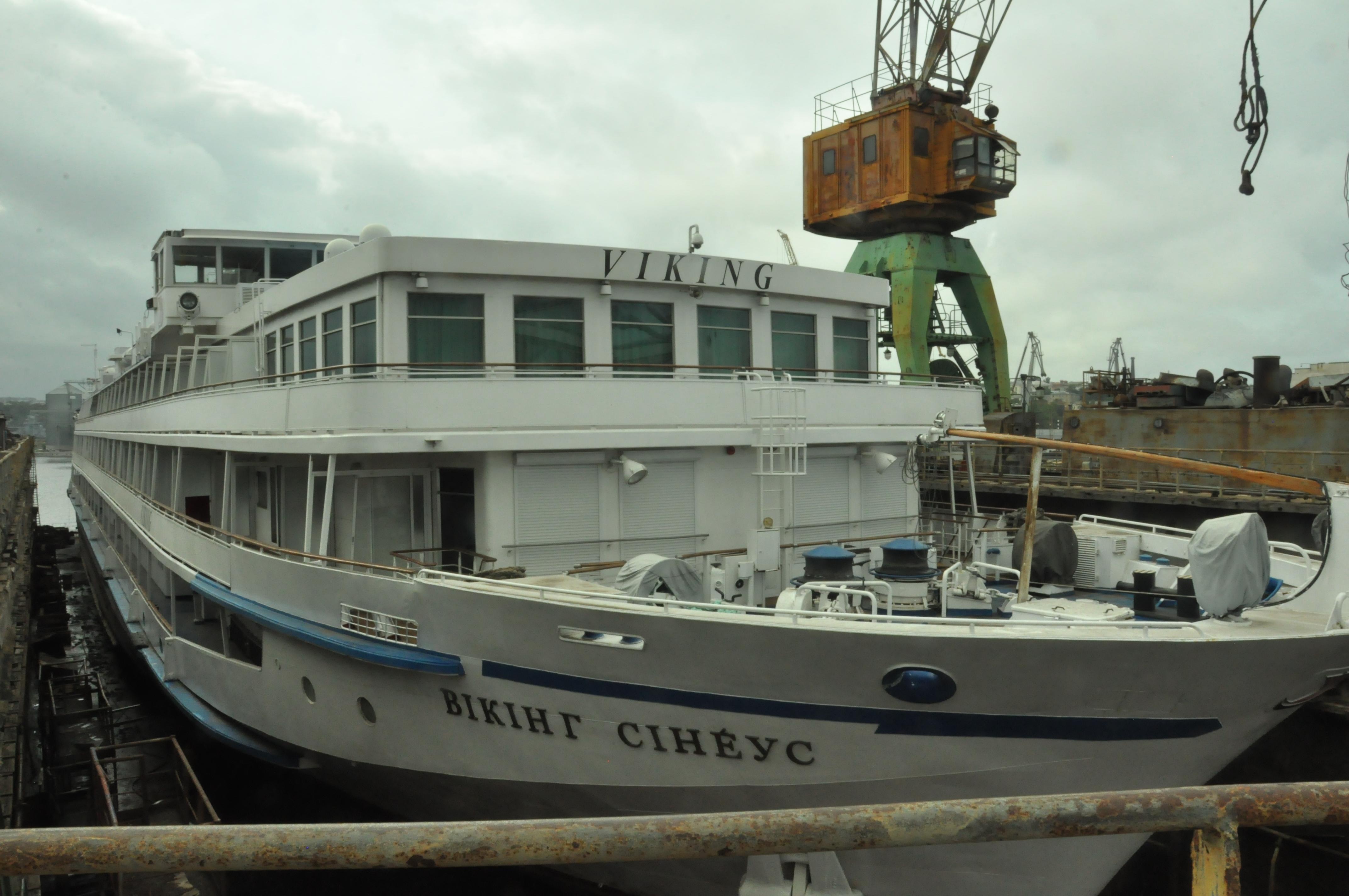 Док №2 прийняв на палубу пасажирський лайнер «Вікінг Сінеус»